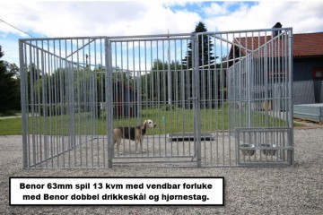 Benor spil 63mm – kennel hundegård 8,6m2