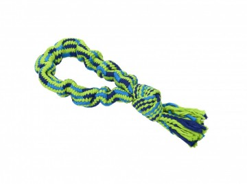BUSTER Colour Bungee Rope Single Knot, blue/lime, 33 cm